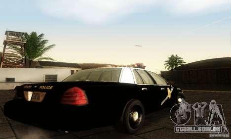Ford Crown Victoria New Mexico Police para GTA San Andreas esquerda vista