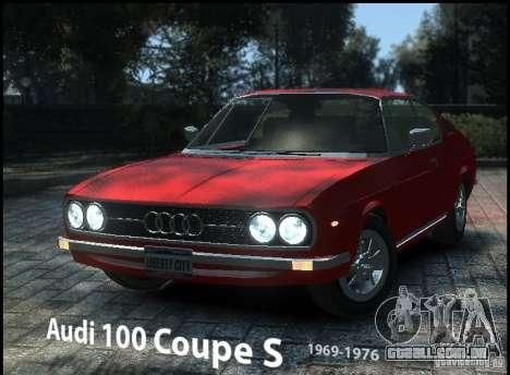 Audi 100 Coupe S 1974 para GTA 4