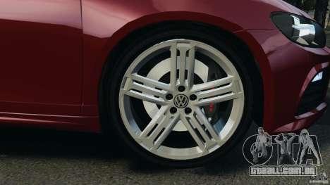 Volkswagen Scirocco R v1.0 para GTA 4 vista de volta