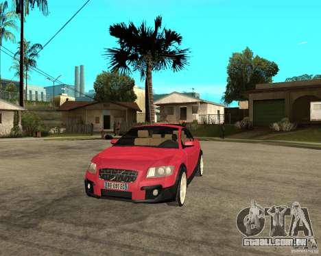 VOLVO C 30 T5 DEL 2008 para GTA San Andreas vista traseira