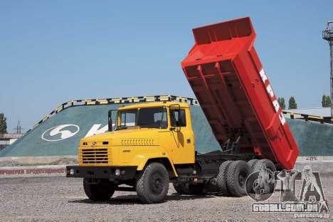 KrAZ 65055 caminhão para GTA San Andreas vista superior