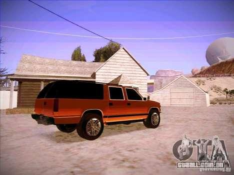 Chevrolet Suburban 1998 para GTA San Andreas vista direita
