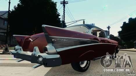 Chevrolet Bel Air Hardtop 1957 Light Tun para GTA 4 vista direita
