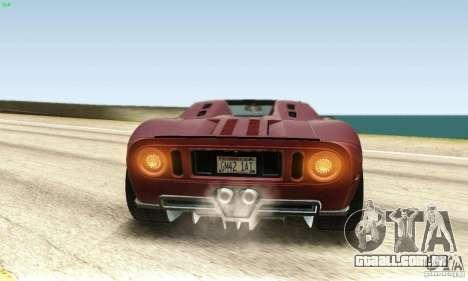 Ford GTX1 Roadster V1.0 para GTA San Andreas vista interior