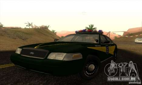 Ford Crown Victoria Indiana Police para GTA San Andreas