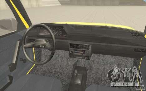 AZLK Moskvich 2141 táxi v2 para GTA San Andreas vista superior