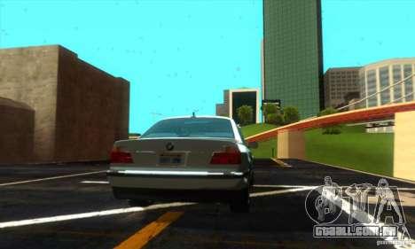 BMW 750i E38 para GTA San Andreas traseira esquerda vista