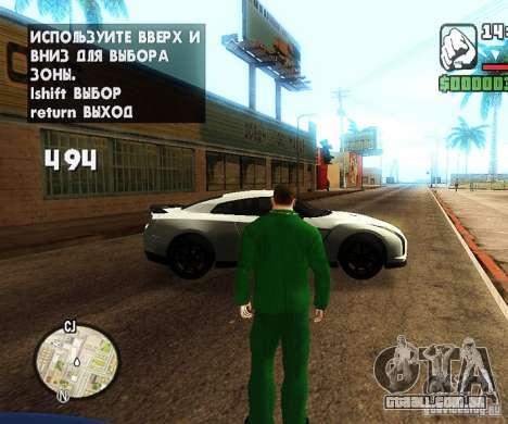 Сar carros de spawn-spawn para GTA San Andreas por diante tela