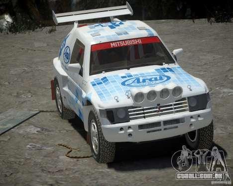 Mitsubishi Pajero Proto Dakar EK86 vinil 3 para GTA 4 esquerda vista