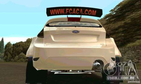 Ford Fiesta Rally para GTA San Andreas vista inferior
