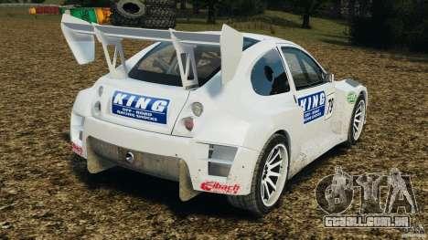 Colin McRae KING Rallycross para GTA 4 traseira esquerda vista