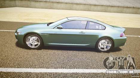 BMW M6 v1.0 para GTA 4 traseira esquerda vista