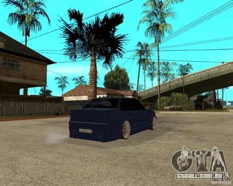 Vaz-2115 TTC Tuning para GTA San Andreas traseira esquerda vista