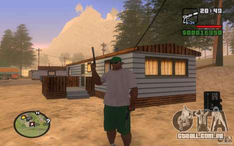 Double weapons para GTA San Andreas por diante tela