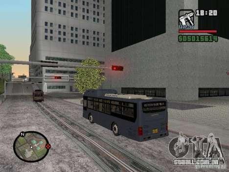 Daewoo BS110CN para GTA San Andreas vista direita
