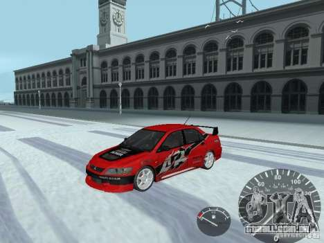 Mitsubishi Lancer Evolution 8 FQ400 para GTA San Andreas vista inferior