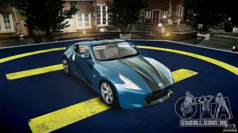 Nissan 370Z Coupe 2010 para GTA 4 vista superior