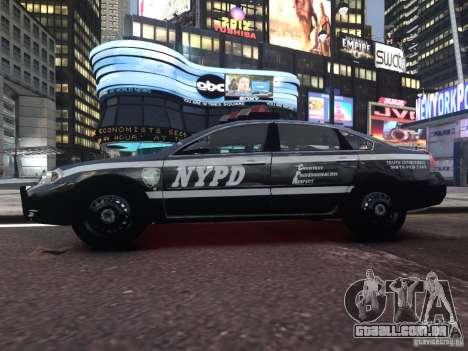 Chevrolet Impala 2006 NYPD Traffic para GTA 4 vista de volta