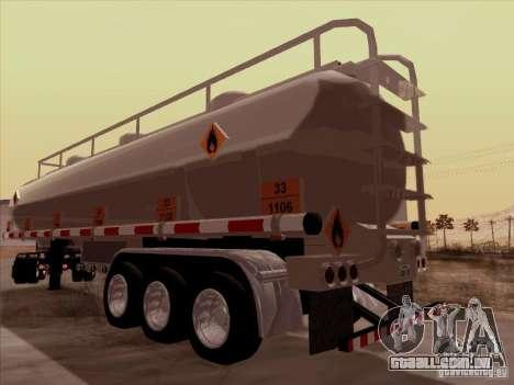 Reboque Kenworth T2000 para GTA San Andreas traseira esquerda vista