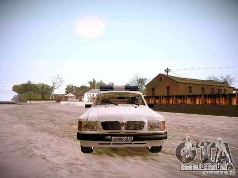 GÁS 310231 urgente para GTA San Andreas vista traseira