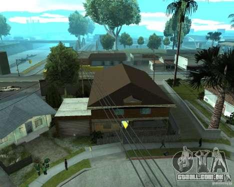 CJâ casa nova para GTA San Andreas por diante tela