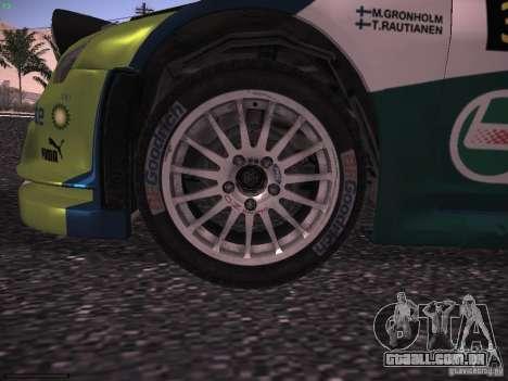 Ford Focus RS WRC 2006 para GTA San Andreas vista interior