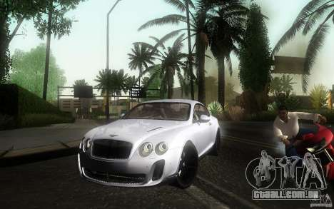Bentley Continental SS para GTA San Andreas vista direita
