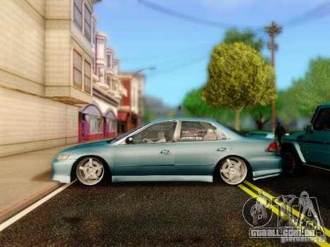 Honda Accord 2001 para GTA San Andreas vista direita