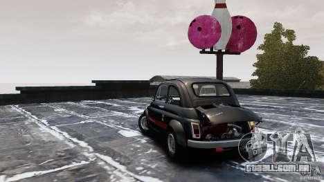 Fiat 500 695 Abarth para GTA 4 traseira esquerda vista