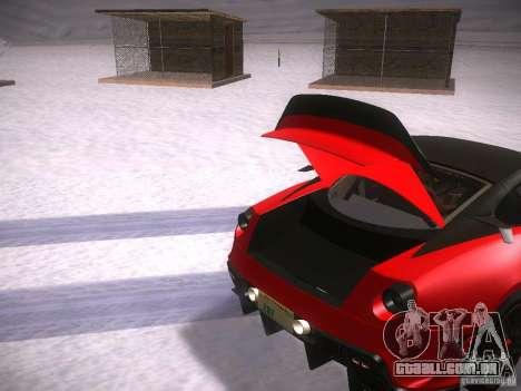 Ferrari 599XX para vista lateral GTA San Andreas