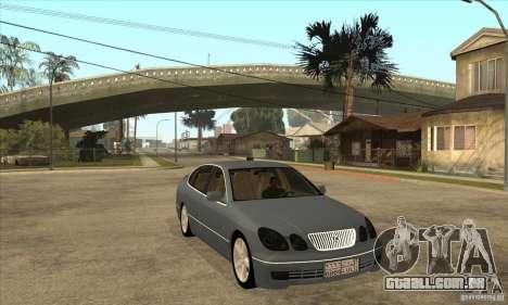 Lexus GS300 2003 para GTA San Andreas vista traseira