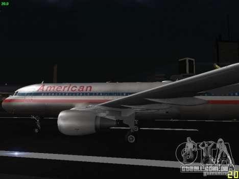 Airbus A320 para GTA San Andreas esquerda vista