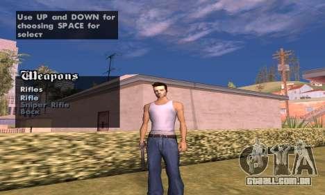 Weapon spawner para GTA San Andreas segunda tela