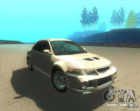 Mitsubishi Lancer Evolution VI 1999 Tunable para GTA San Andreas vista inferior