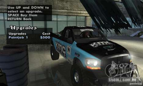 Dodge Power Wagon Paintjobs Pack 2 para GTA San Andreas vista traseira