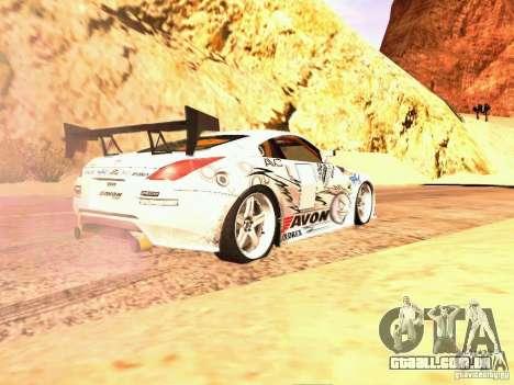 Nissan 350Z Avon Tires para GTA San Andreas esquerda vista