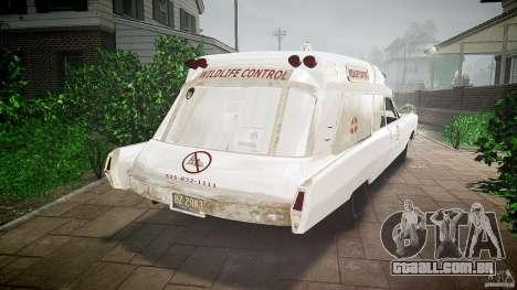 Cadillac Wildlife Control para GTA 4 esquerda vista