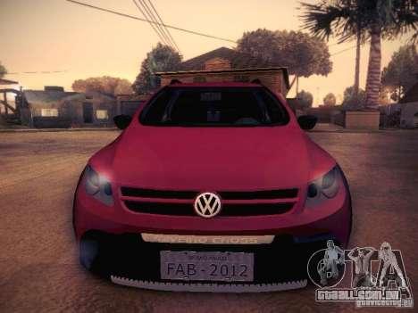 Volkswagen Saveiro Cross para GTA San Andreas vista interior
