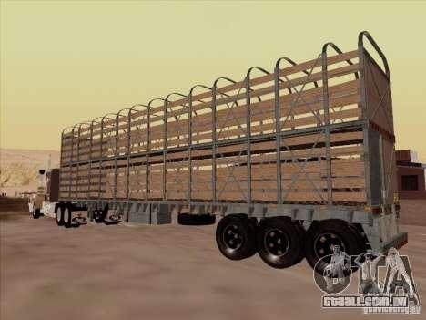 Trailer de Mack RoadTrain para GTA San Andreas traseira esquerda vista