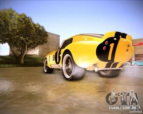 Shelby Cobra Daytona Coupe 1965 para GTA San Andreas traseira esquerda vista