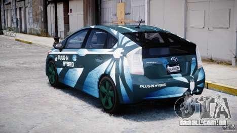 Toyota Prius 2011 PHEV Concept para GTA 4 traseira esquerda vista