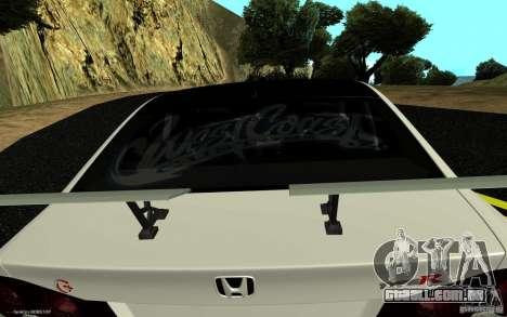 Honda Civic Type R para GTA San Andreas traseira esquerda vista