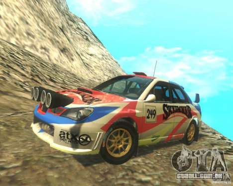Subaru Impreza WRX STI DIRT 2 para GTA San Andreas vista inferior
