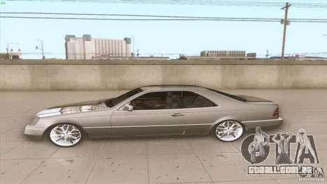Mercedes Benz 600 SEC para GTA San Andreas esquerda vista