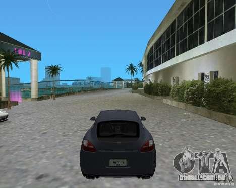 Porsche Panamera para GTA Vice City vista traseira esquerda
