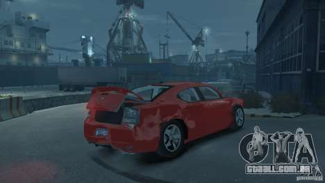 Dodge Charger 2007 SRT8 para GTA 4 vista superior