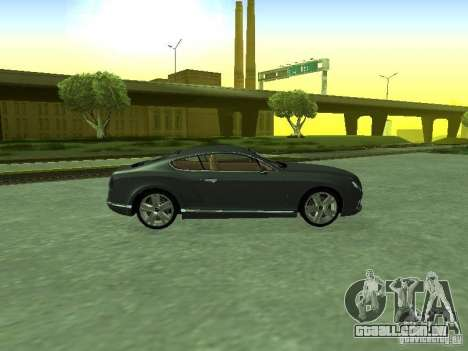 Bentley Continental GT 2010 V1.0 para GTA San Andreas vista direita