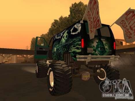 Ford Grave Digger para GTA San Andreas esquerda vista