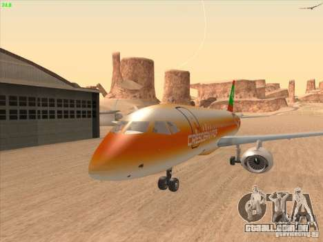 Sukhoi Superjet-100 para GTA San Andreas vista interior