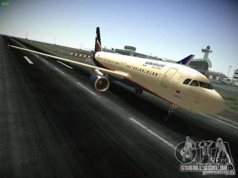 Aeroflot Russian Airlines Airbus A320 para GTA San Andreas vista interior